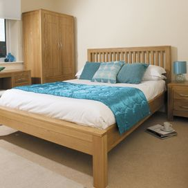 Pine double bed frame £299.