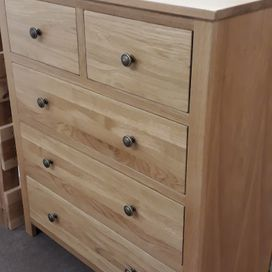 Devon made oak 2 over 3 chest was £395 now £345